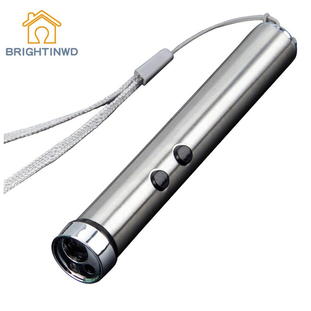 BRIGHTINWD New Mini LED Flashlight Multi-function Outdoor Infrared Banknote Inspection Lamp Home Lighting Taschenlampe UV Light