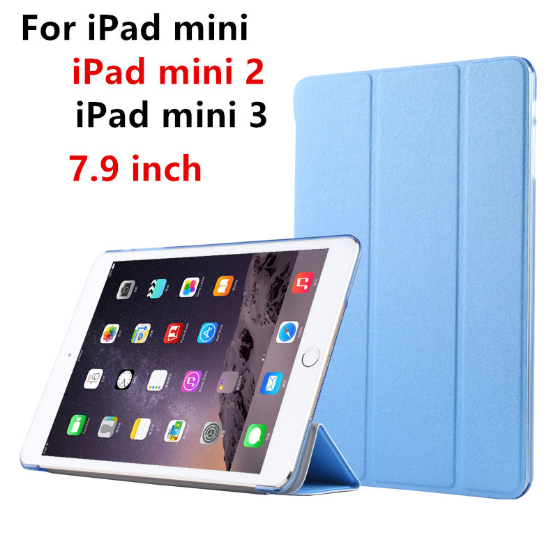 Case For Apple iPad mini 3,2,1, Protective Smart cover Protector Leather PU Tablet For iPad mini3 mini2 Sleeve cases Covers 7.9 lychee texture pu leather pouch protective cover case for ipad mini 2 3 brown