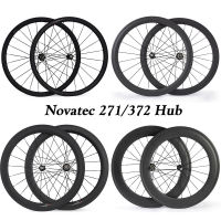 Novatec 700C Carbon Road Bike wheels 38mm 50mm 88mm depth Clincher Tubular v brake bicycle wheelset 23mm matte standard wheels