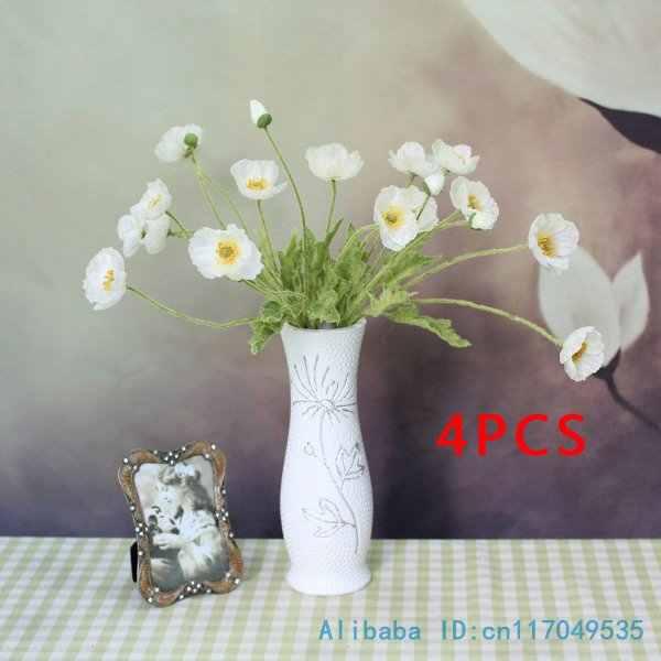 1 Pcs Mooie Kunstmatige Poppy Zijden Bloemen Thuis Bruiloft Decoratie Gift F263