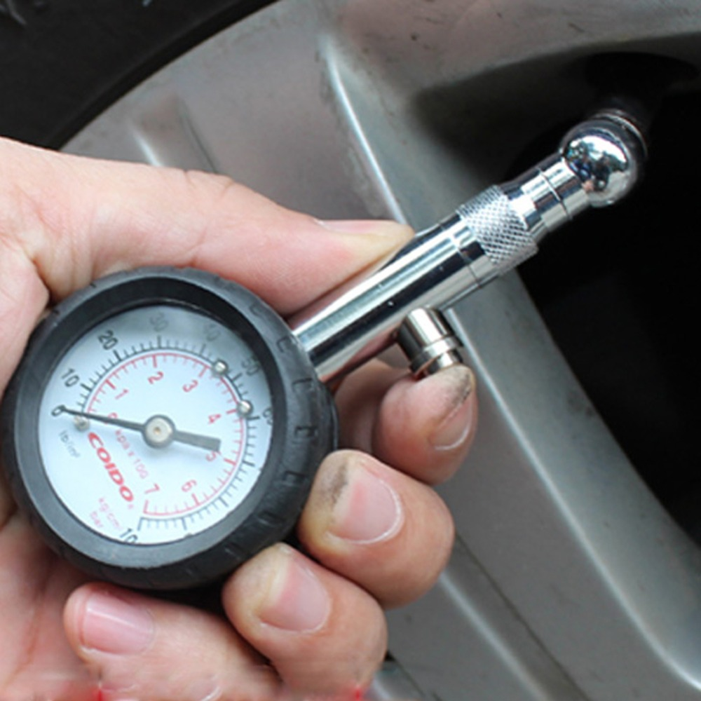 CarBole 0-60psi stainless steel Tire Pressure Gauge With Integrated Hold Valve 60PSI