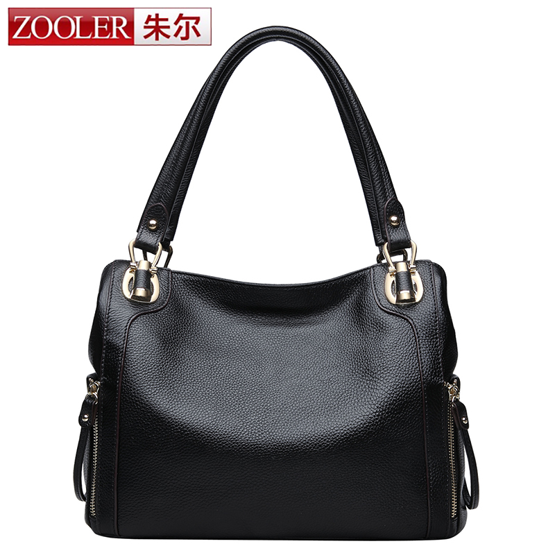 Hot Sale! Zooler woman bags 2017 bag handbag fashion handbags Brand OL lady genuine leather bag solid#2615