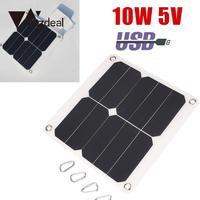 10W 5V Solar Panel Solar Cells Solar Power Panel External Mobile Cell Phone Battery Charger with USB Port Portable