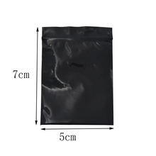 500pcs/lot 5*7cm Mini Black Retail Top Zipper Jewelry Electronic Package Plastic Bags Ziplock Resealable Packing