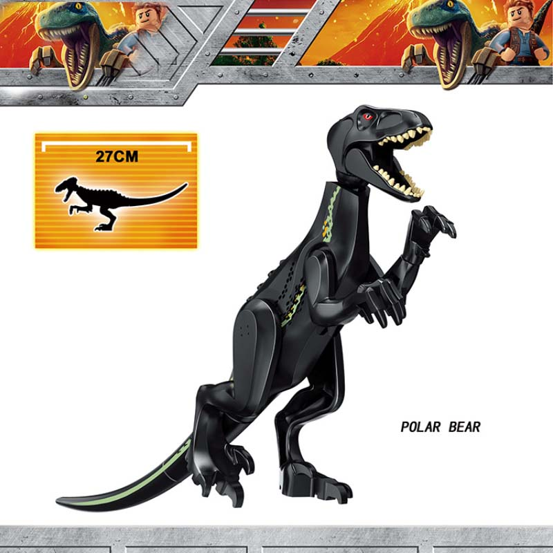 Legoings Jurassic World Park Tyrannosaurus Indominus Rex Indoraptor Building Blocks Dinosaur Figures Bricks Toys building blocks 82028 jurassic world indominus rex tyrannosaurs t rex building blocks toys dinosaur bricks children gift toys