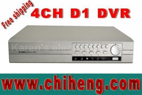 H.264 4ch video recording D1 realtime CCTV dvr recorder/alarm/PTZ/VGA/mouse,support(iphone\ Blackberry\Android)watch,dvr to pc