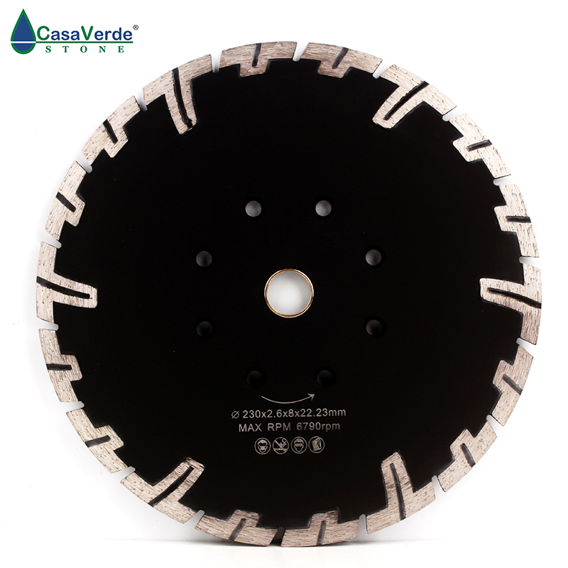 DC-RTB9 Hot Sintered Turbo Diamond Cutting Blade T-shape Segments Dry And Wet For Stone Saw Disc
