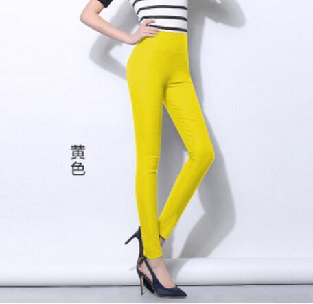 SIMPLISER Elastische Hohe Taille Frauen Zeichnen Hosen Plus Größe 5XL 6XL Large Leggings Weiblichen Candy Farbe 2018 Hosen Femme Pantalon