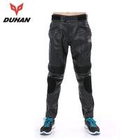 DUHAN Motorcycle Pants Men Motorcross Trousers Riding Protective Waterproof Windproof PU Imitation Leather Racing Sports Pants