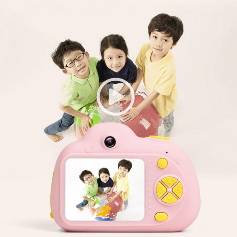 Enfants jouet caméras 16G 2 pouces HD écran 800 W Pixel numérique Mini caméra pour enfants + lecteur de carte carte mémoire caméra numérique - 3