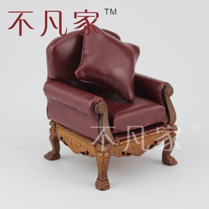 Échelle 1/12 Dollhouse miniature meubles Antique sculpté à la main chaise