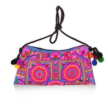 Women Handmade Floral Embroidery Handbags Shoulder Messenger Bags Clutch