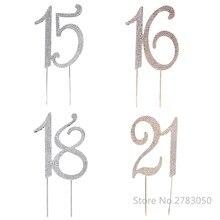 ディアマンテラインストーン号 15/16/18/21 ケーキトッパーため 15th 16th 18th 21th 誕生日結婚記念日パーティーケーキの装飾