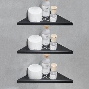 Настенный матовый черный 1/2/3 уровня Душ Caddy ванная 304 нержавеющая сталь угловая полка для хранения душа треугольник