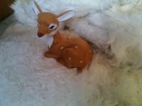 Simulation Deer Toy Polyethylene Furs Deer Model Funny Gift About 13cmx8cmx13cm