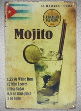 1 pc Mojito drink cocktail beer bar whisky petrol oil Tin Plate Sign wall plaques man cave Decoration Dropshipping Poster metal