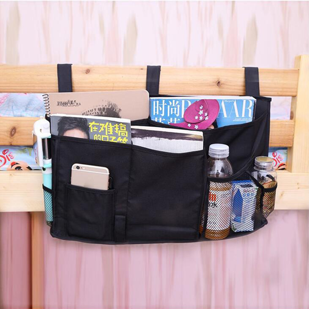 Houshold Bed Storage Bag Bedside Pockets Felt Wall Door Hanging Bed Storage Organizer Holder for Table Sofa Chairs