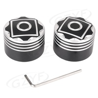 Motorcycle Front Axle Nut Cover Bolt Kit For Harley Davidson 2008 20017 Touring And Trike Models