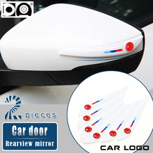 Car door Rearview mirror Anti-collision strip Black/White for Hyundai Santa Fe ix35 ix20 i10 i20 i30 i40 sonata Genesis Elantra