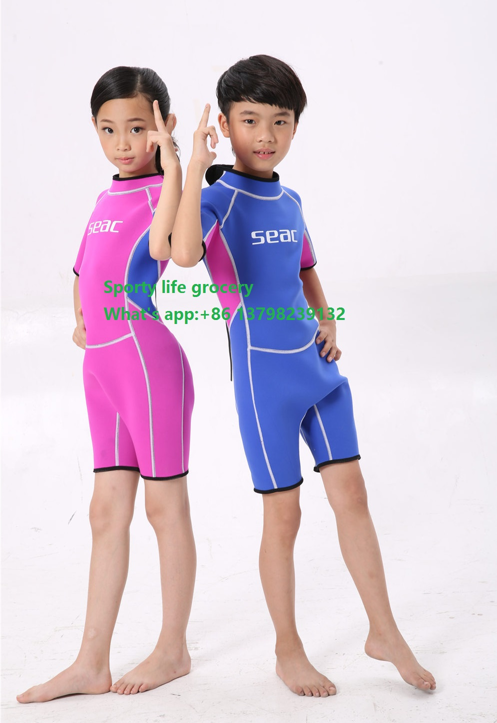 High Quality Youth Kids Junior Unisex Shorty Wetsuit Neoprene Spring Wet Suit Swim Suits
