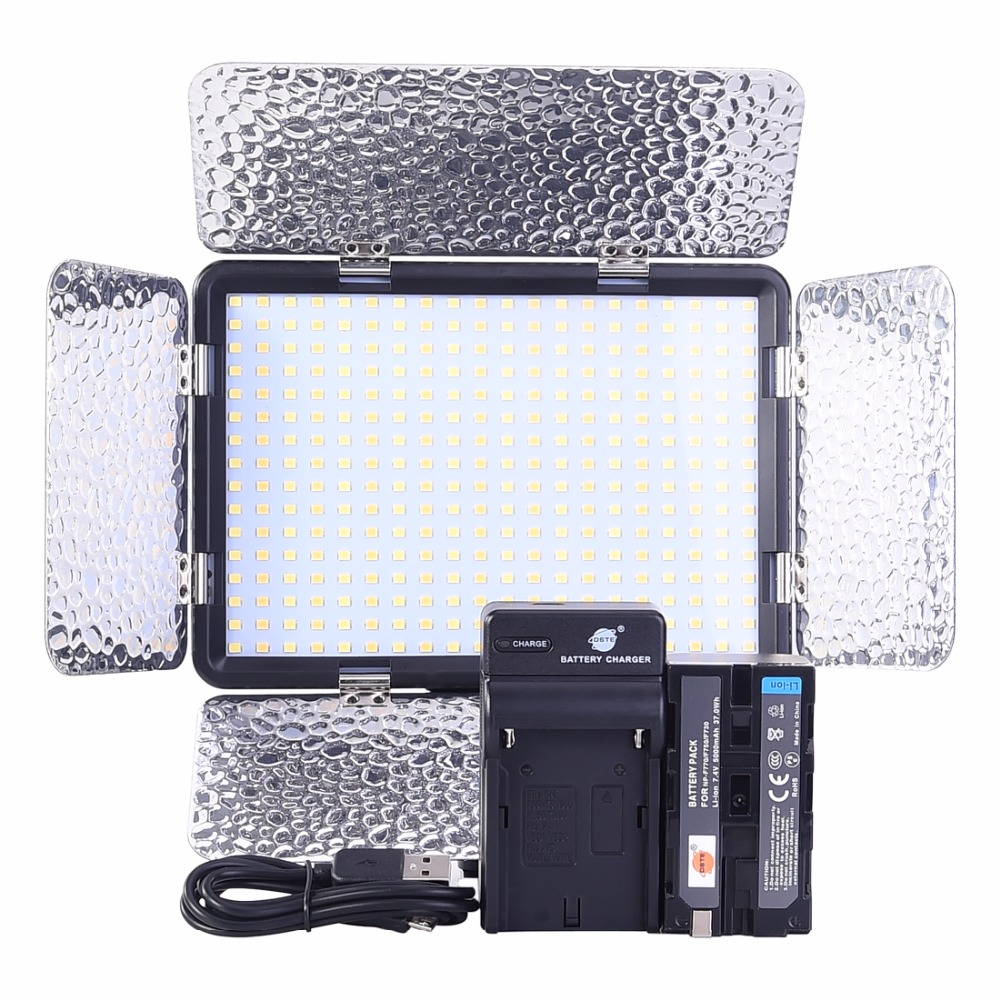 DSTE DB89 LED-320AS 1350LUX Video Light with NP-F750 Battery and Charger for Canon DSLR Camera Camcorder DV LampDSTE DB89 LED-320AS 1350LUX Video Light with NP-F750 Battery and Charger for Canon DSLR Camera Camcorder DV Lamp