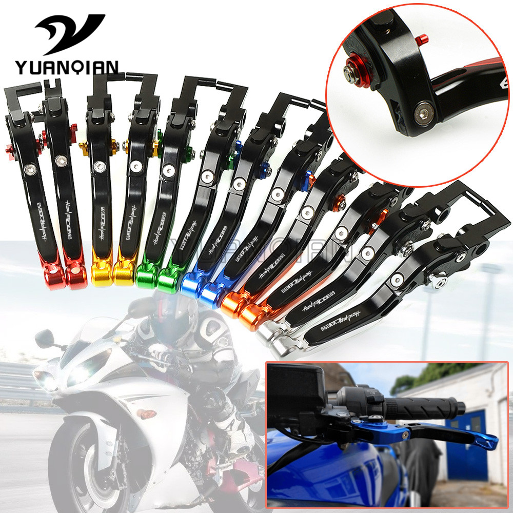Foldable Extendable Brake Clutch Levers CNC 1999 2000 2001 2002 2003 2004 <font><b>2005</b></font> For <font><b>Honda</b></font> CB599 CB600F <font><b>HORNET</b></font> <font><b>600</b></font> 1998 - 2006 image