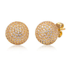Angelgirl Jewelry A classic fashion holiday gift for women with high quality zircon globular earrings E1510583 free shipping(China)