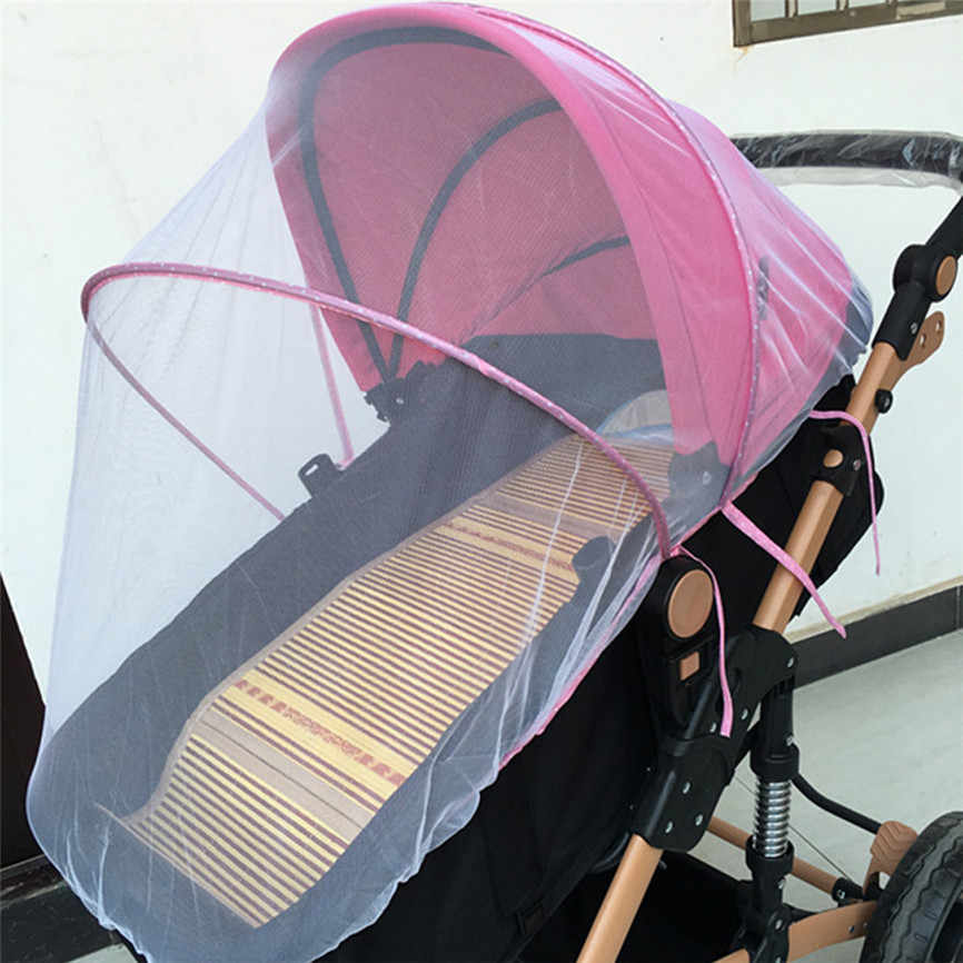 Wózek dziecięcy moskitiera pełna Insect Cover Carriage Kid składana siatka dziecięca 150cm Dropshipping czerwiec #06