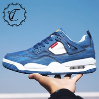 CatriCa Air Cushion Hot Sale Male Trainers Fashion Designer Shoes Men Leather High Quality Tennis Sneakers 2019 Blue White K35