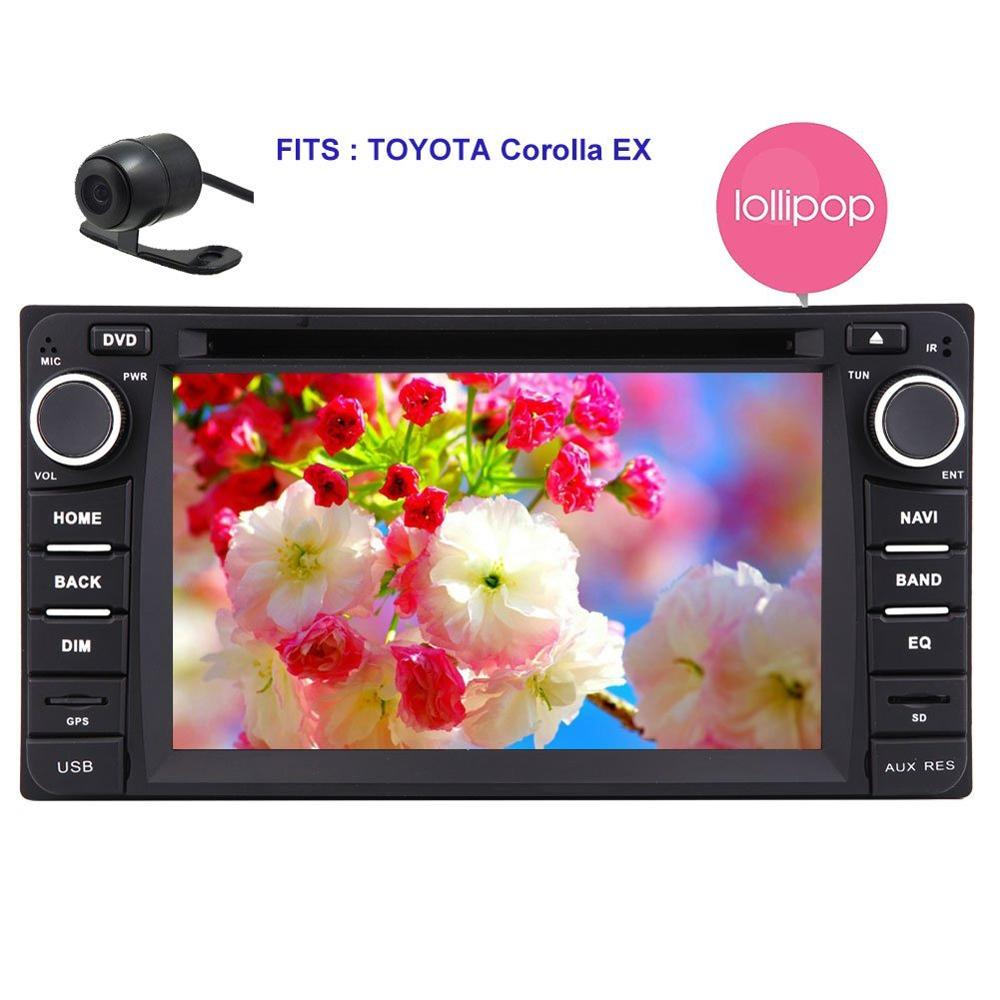 for TOYOTA Corolla 2 Din Car Stereo GPS Radio Steering Wheel Control Bluetooth DVD Player Quad core Android 5.1.1 Car DVD Player