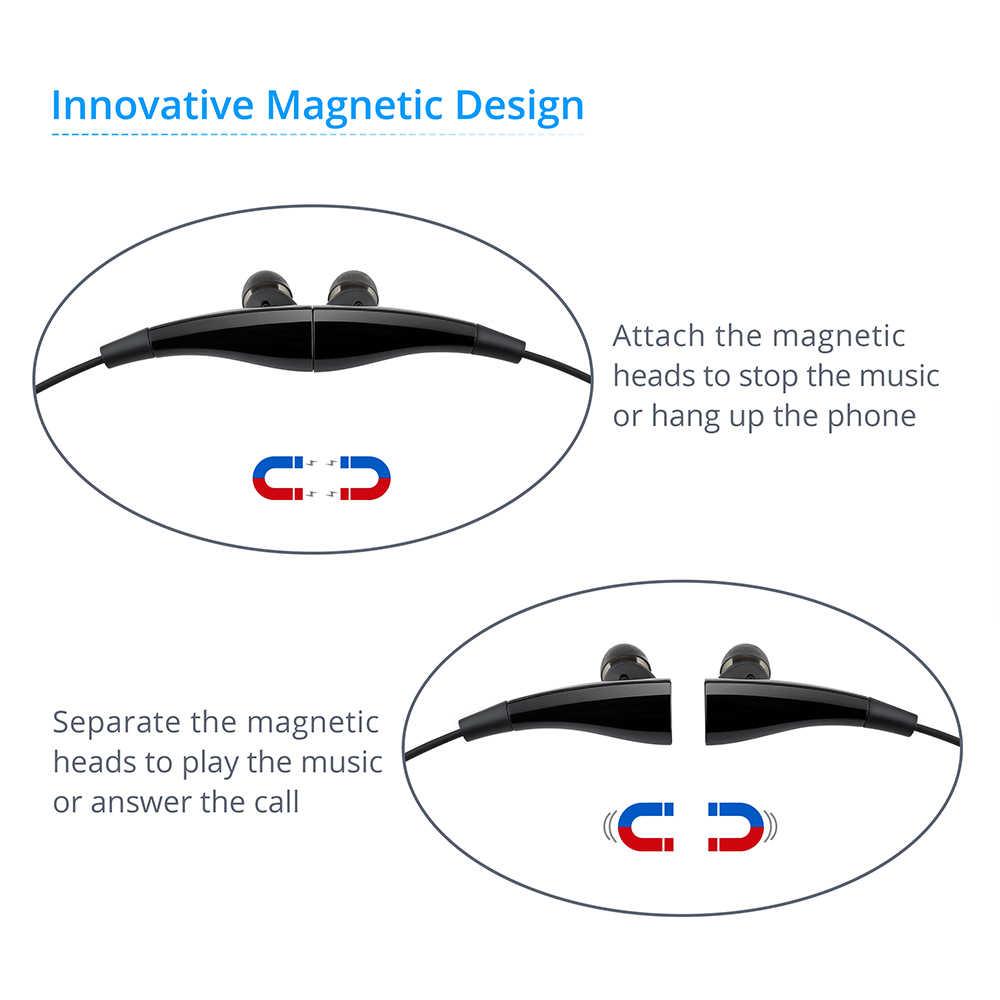Mpow Magneto MBH31B Bluetooth наушники беспроводные наушники со встроенным микрофоном 7 часов воспроизведения магнит дизайн для смартфона Xiaomi