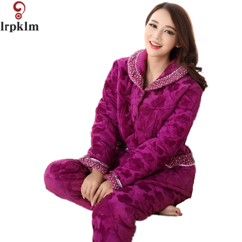 New Arrival Womens Winter Pajamas Sets Supper Soft Coral ...