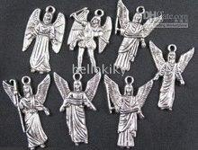 600PCS Mixed Tibetan silver wing angel charms FREESHIP A1696
