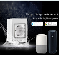 EU Standard Wifi Wall Socket Alexa And Google Home Voice Control Ewelink App Phone Control