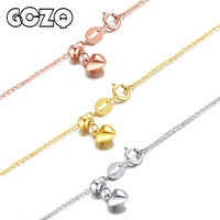 GCZQ 100% Genuine 18K White/Yellow/Rose Gold Chain 1.4g Arbitrarily adjustable Necklace Gold Chain Pure Gold Necklace