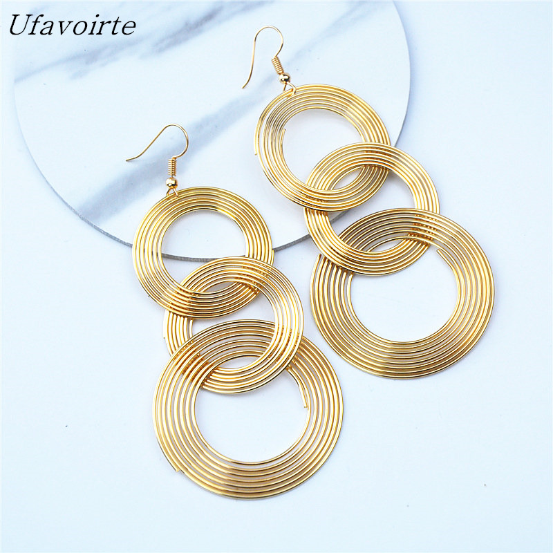 Ufavoirte Jewelry <font><b>Long</b></font> paragraph <font><b>earrings</b></font> <font><b>sexy</b></font> retro gold <font><b>earrings</b></font> jewelry image