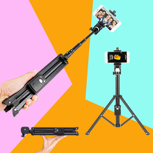 YUNTEN Handheld Mini Tripod Self-portrait Monopod Phone Selfie Stick Bluetooth Remote Shutter for iPhone Sumsang Gopro Hero