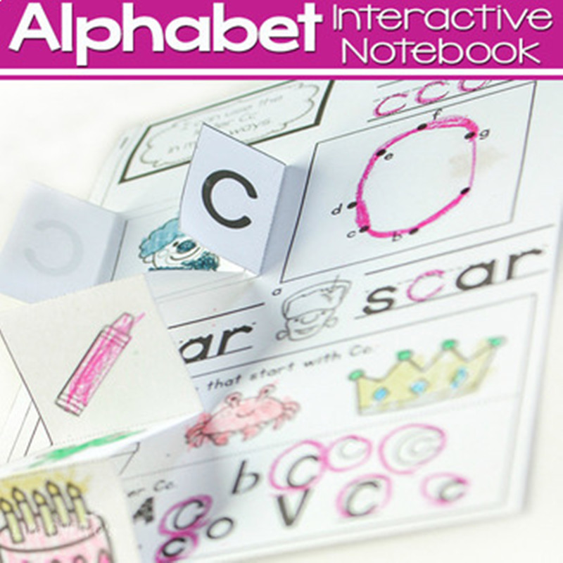 26 Letters Alphabets Learning English Phonic Interactive Notebook Coloring Training Working Book Educational Toys For Children