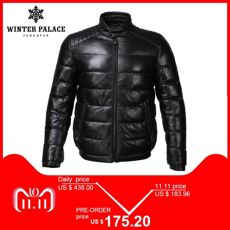 Giovane di stile giacca di pelle Collare Del Mandarino giacca in pelle da uomo giacca di Cotone Interno mens del cuoio genuino Caldo jaqueta de couro