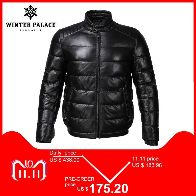 Joven de cuero estilo chaqueta mandarina cuello chaqueta de cuero de los hombres interior Chaqueta de algodón para hombre de cuero genuino cálido jaqueta de couro