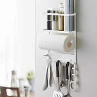2560 Plate Magnetic Kitchen Organization Rack,White Magnet Paper Towel Holder