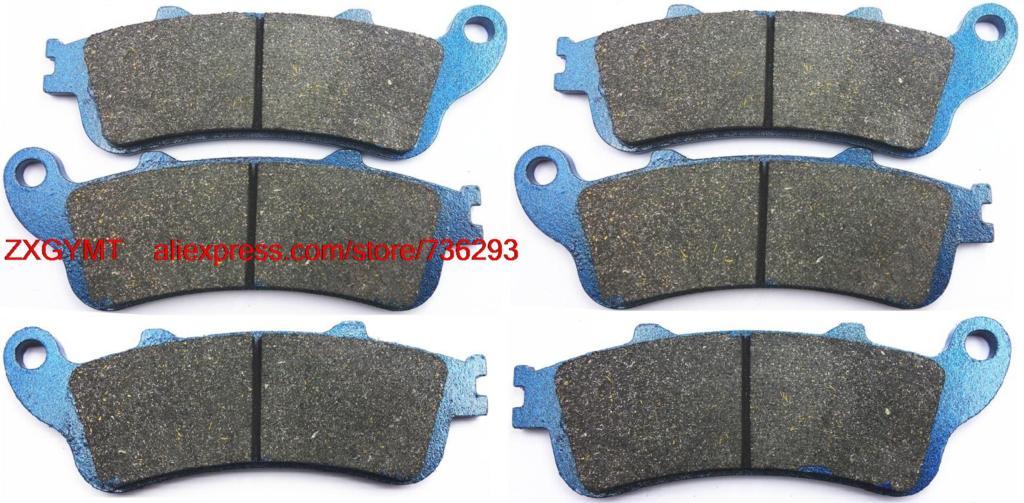 Motorcycle Resin Brake Pads Set fit for HONDA CBR1100 CBR1100XX CBR 1100 XX Super Blackbird 1996 & up hot sales cbr 1100 xx 96 07 body kit for honda cbr1100xx 1100 blackbird 1996 2007 blue motorcycle fairings injection molding