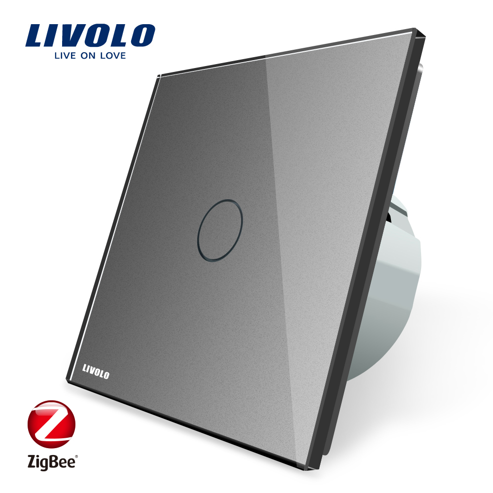 Image 4 - Livolo EU Standard Zigbee Smart Home Wall Touch Switch, Touch WiFi APP Control, google home control , Alexa, echo control-in Switches from Lights & Lighting