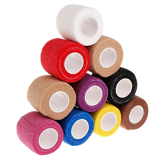 10Pcs 5cm Disposable Tattoo Self-adhesive Elastic Grip Bandage Wrap Sport Tape Body Art Tattoo Accesories