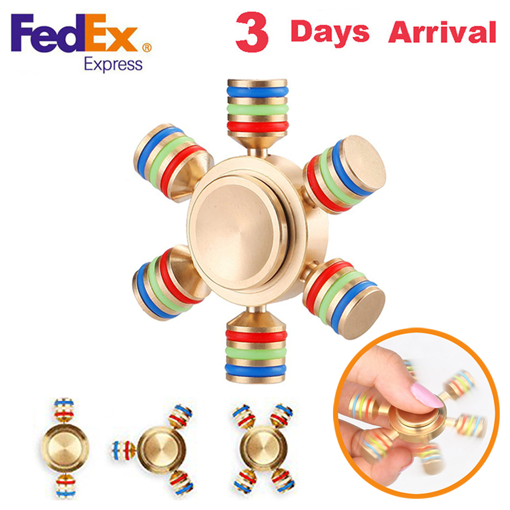Metal Hand Spinner Tri-Spinner EDC Fidget Toy For Autism and ADHD Anti Stress Finger Toys Profession Gyro Tops Handspinner luminous tri fidget hand spinner light in dark edc tri spinner finger toys relieve anxiety autism adhd for child