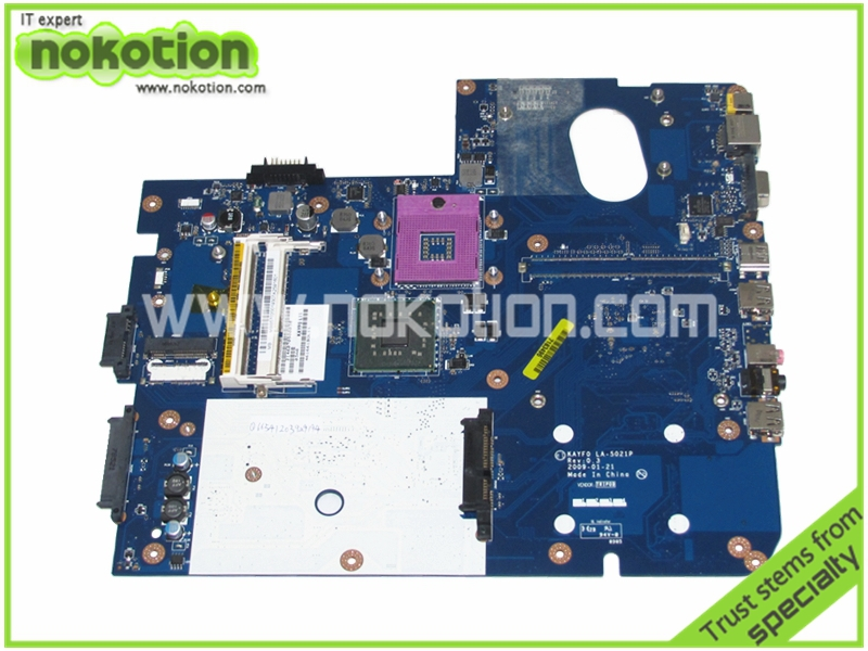 NOKOTION LA-5021P MB.B5702.001 Laptop Motherboard for GATEWAY NV78 NV74 MOTHERBOARD MBB5702001 KAYF0 Intel HD graphics free cpu