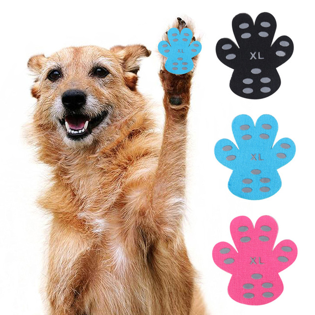 Dog Paw Protector Traction Pads To Keeps Dogs From Slipping On Floors  Disposable Self Adhesive Shoes Booties Dog Supplies f5e424987079