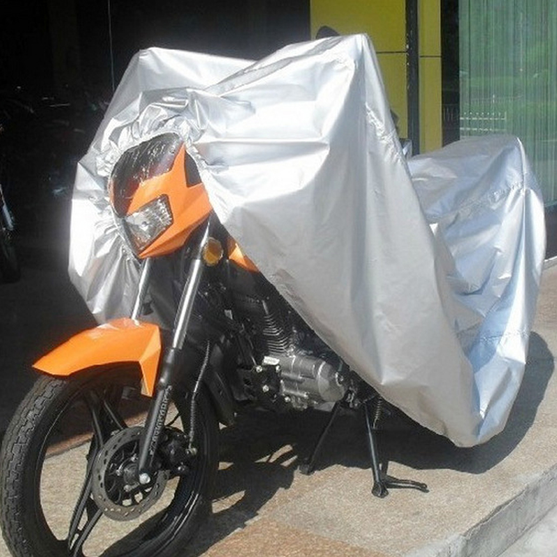 Garden Supplies Helpful Silver Breathable Motorcycle Cover Weatherproof Cruiser Uv Rain Dust Proof Outdoor Motorcycle Bike Moped Scooter Covers V5973 Careful Calculation And Strict Budgeting Shade