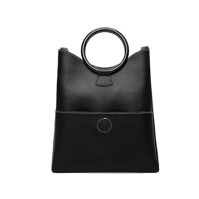 Bonsacchic Black Handbag Women's Bags Set Designer Women Handbags High Quality Crossbody Bags for Women 2018 Ladies Handbags Set