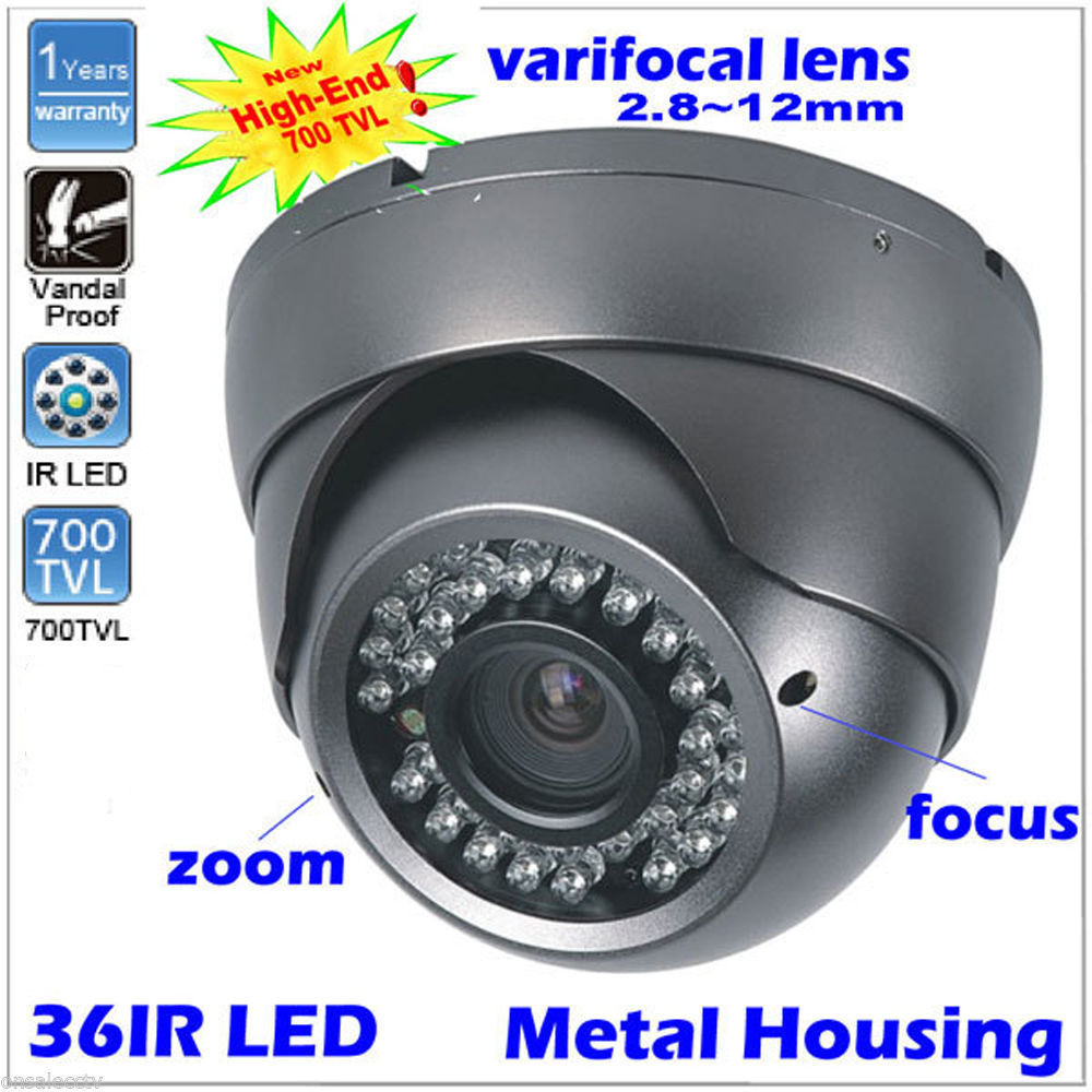 Купить New CCTV Camera 700TVL 1/3 Sony CCD 36pcs Infrared Night Vision LEDs 2.8-12mm Vari-focal Lens Security Camera в Москве и СПБ с доставкой недорого